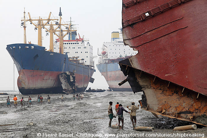 ship breaking near Chittagong