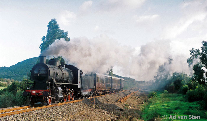 Steam on Sardinia: 740 423