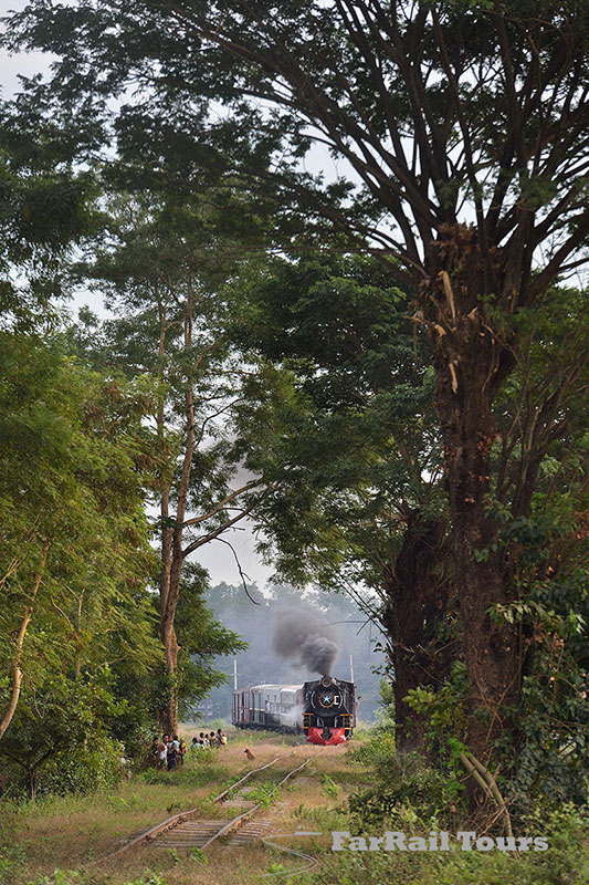 Steam in Burma (Myanmar) - branch line to Madauk