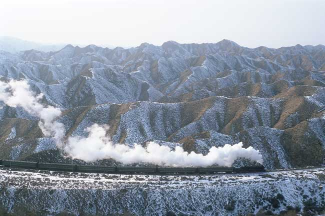 in the loess mountains of Baiyin, photo: Bernd Seiler, January 2006
