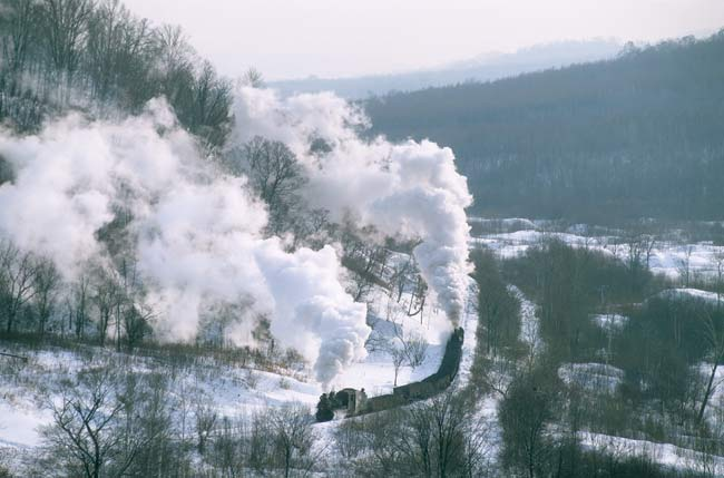 Huanan - banked steam trains