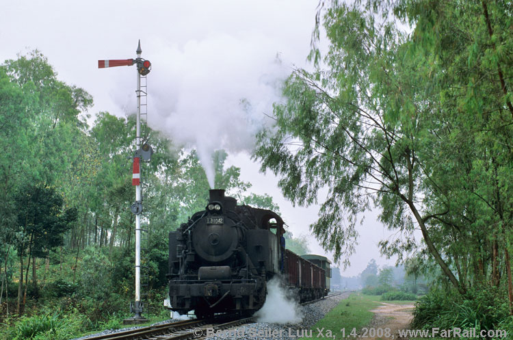 Steam in Vietnam: charter train on the line to Pho Co