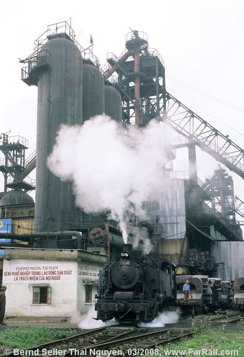 Steam in the steelworks Thai Nguyen