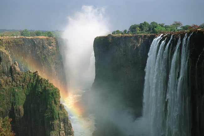 Victoria Falls National Park, seen from Zambia