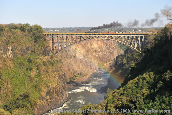The Victoria Falls bridge with Garratt 15A 414 on it